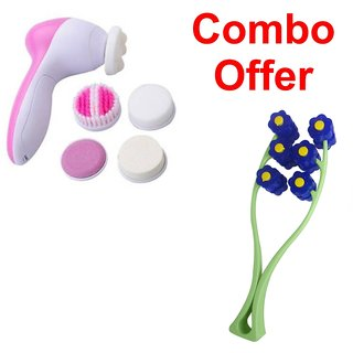 Deemark 5 in 1 Beauty massager  with  Beauty Face-up Roller Massager  Combo pack