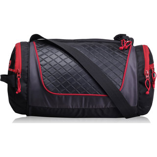 F Gear Astir bag 30 liter Small Gym Duffle Bag (Black Red)