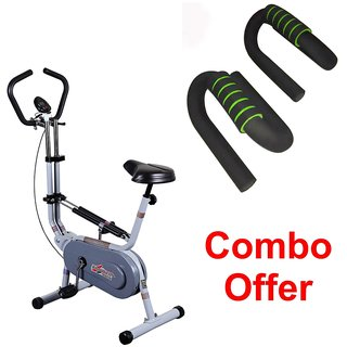 Deemark Exercise Bike Bgc 209 With Pushup bar Combo Pack