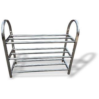 Stainless Steel Shoe Rack 3 Tier