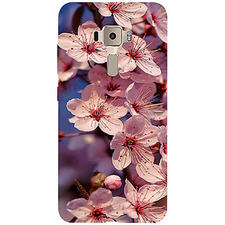 Casotec Pink Flowers Pattern 3D Printed Hard Back Case Cover for Asus Zenfone 3 ZE552KL