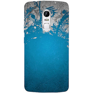 Casotec Blue Floral Pattern 3D Printed Hard Back Case Cover for Lenovo Vibe X3