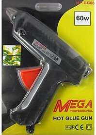 Branded 60 Watt Mega Professional Hot Glue Gun With 2 Pcs Small Glue Sticks Free