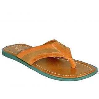 Khadims Lazard Tan Brown Slip-on Mens Sandal