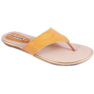 Balujas Women's Yellow Flats