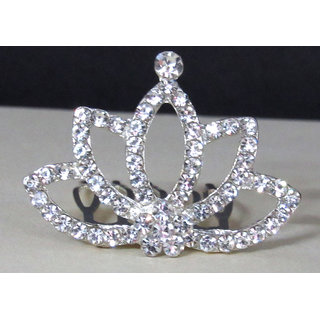 Nice Silver Stone Hair Crown Accessories