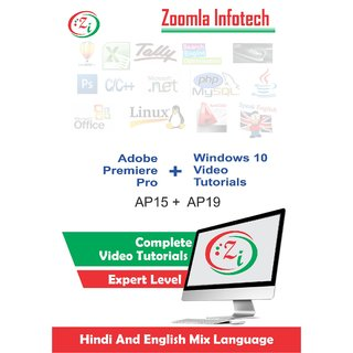 Adobe Premiere Pro and Window 10 Video Tutorials DVD/CD in Hindi by Zoomla Infotech