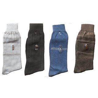 4 Pair Men Long Socks