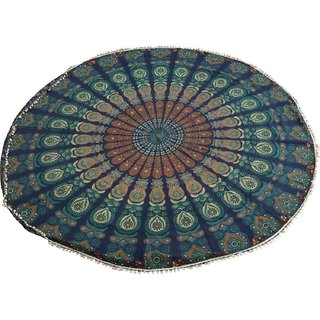 Spangle Jaipuri Traditional Round Table Cover 80 X 80