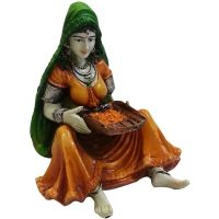 Traditions Of Rajasthan Showpiece - 15.24 Cm(polyresin, Multicolor)