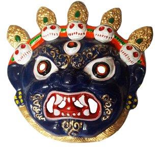 Nazar Battu- Wall Hanging Metal Mahakal Face Mask