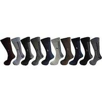 Men Long Socks Assorted 10 Pair