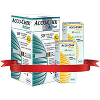 Accu Chek Active 50 Strips  2 Pack Of 25'S Lancets Combo