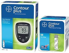 Bayer Contour Plus Glucose Monitor With Free 50 Strips