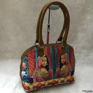 Multi Colored Printed Rexine Travel Bag 44
