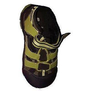 Junior Fuluwa Boys Blue Green Double Velcro Strap Closing Running Shoes
