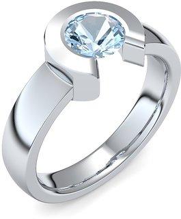 Ziva 92.5 Silver Platinum Plated Silver Ring ZIR10531-P
