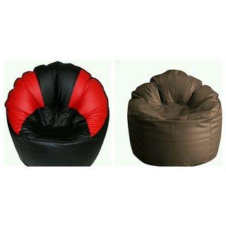 Comfort Bean Bag Sofa Cover  XXXL Multicolor(Pack of 2)