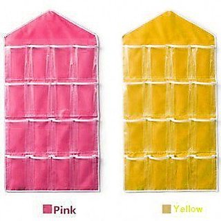 Magma Store New Arrival Hanging Pink  Yellow Wall Pocket Storage Bag(ST039)