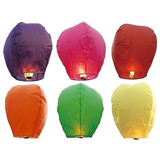 Magma Store Sky Lanterns Called as Wishing Lanterns for Christmas, Birthday, Events, Occasions (Pack of 25 pcs)(ST041)