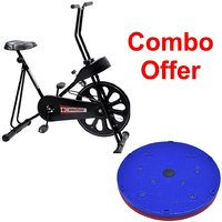 Deemark Exercise Bike 201 With 5 In 1 Twister Slimmer C
