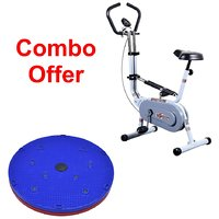 Deemark Exercise Bike 209 With 5 In 1 Twister Slimmer C