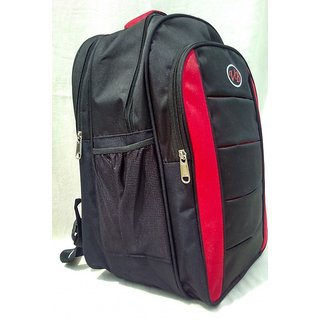 Fashion Bazaar India Black  Red Back Padding School Bag