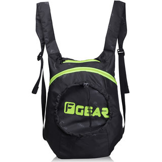 F Gear Crest Foldable Small 15L 1-DAY BACKPACK (Black Green)