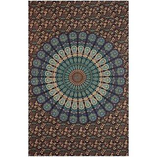 Anku Appu Textiles Mandala Tapestry Cotton Printed, Floral, Abstract Single Bedsheet