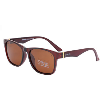 Super-X Polarized Wayfarer Sunglasses SXBRWN-7835-5419-122