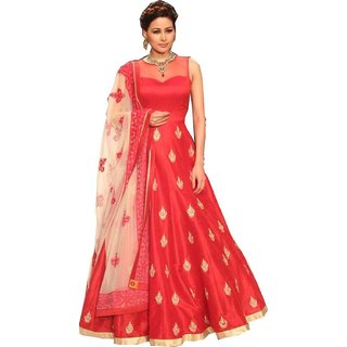 Aarna Fashion New Arrival Red Long Anarkali Bollywood  Designer Salwar Suit