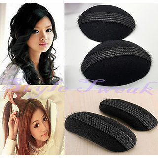 Combo of Hair Puff Bumpits - Set of 2 + Hair Puff Bumpits TikTak Clip - Set of 2