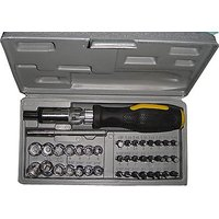 41 Pcs Tool Kit Combination Tool Set With Bits  Sockets