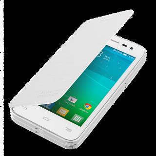 Hi Grade White Flip Cover for Micromax A79