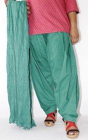 Lotus Solid Colour Patiyala Bottom With Dupata