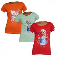 TCC Girls Cotton T-Shirt Pack of 3