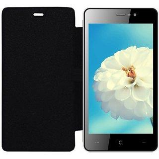 Hi Grade Black Flip Cover for Karbonn A1 Pro