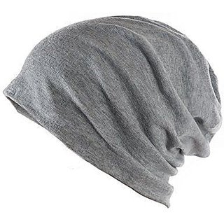 e0d6eabfb68 78%off Beanie Cap Grey Woolen Cap Slouchy Cotton for Men Women Unisex