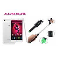 Reach Allure+ ( 4G, 5.5 IPS HD Screen, 1GB RAM+ 8GB ROM, 10MP+ 5MP Camera, Free Flip Cover With Bluetooth Selfi Stick