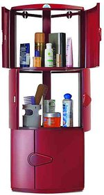 Nilkamal Corner Cabinet-3D-Maroon