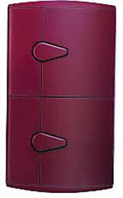 Nilkamal Corner Cabinet-2D-Maroon