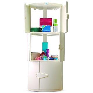 Nilkamal Corner Cabinet-3D-Ivory