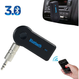 Wireless Bluetooth 3.5mm AUX Audio Stereo Music Home Car Receiver Mic Adapter
