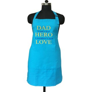 Lushomes Cotton Witty Blue Dads the Hero Apron