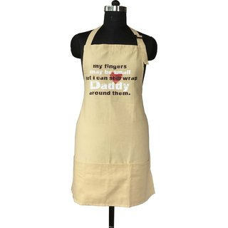 Lushomes Cotton Witty Beige Daddy Apron