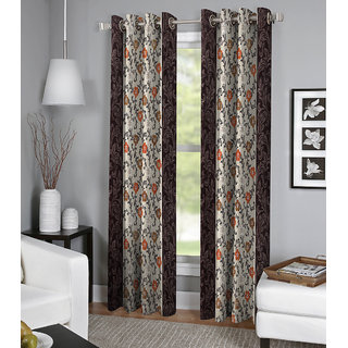 BSB Trendz Printed Door Curtain Set Of 2