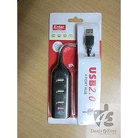ENTER Hi Speed 4 Port USB Hub, 2.0 Usb Hub For PC, Laptop