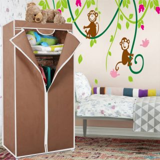 Kawachi Collapsible foldable folding almirah cloth wardrobe cupboard Brown available at ShopClues for Rs.1490
