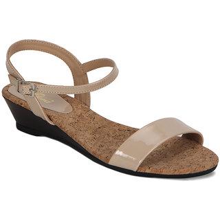 Flora cream Patent Sandal