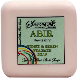 Samayah Abir Handmade Bath Soap (Honey and  Green Tea Extracts)